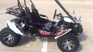 3. TrailMaster Blazer 150X GoKart White Walkaround