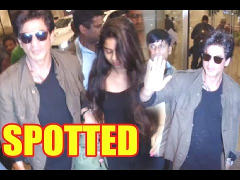 Spotted: Shah Rukh Khan Leaving For Europe With Su