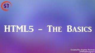HTML5   The Basics