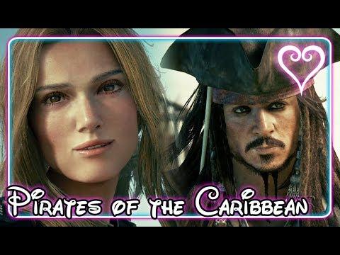 Kingdom Hearts 3 All Cutscenes   Full Movie   Pirates of the Caribbean ~ Port Royal
