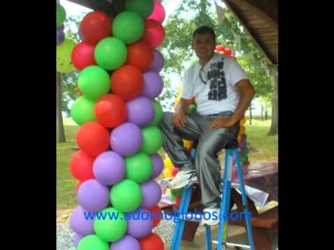 Decoracion con globos Tinkerbell