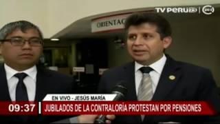 Contraloría informa sobre pago a jubilados y cesantes de la institución (TV Perú)