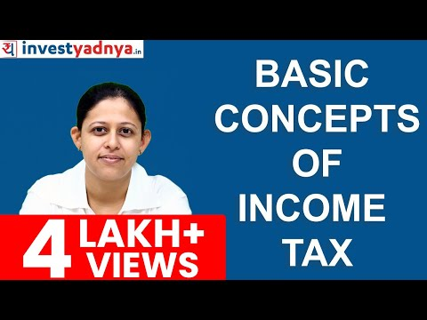 Basic Concepts of Income Tax in India - Exempt Income, Deductions, Rebate, FY, AY, TDS, Advance Tax