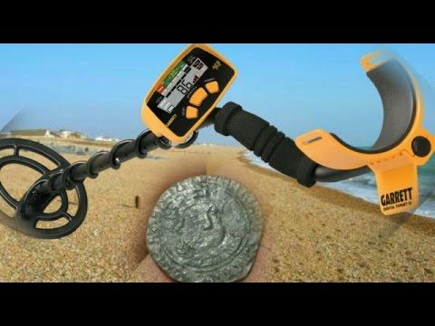 Garrett Ace 200i  Beach Challenge Hunt 1 using a detech excelerator coil