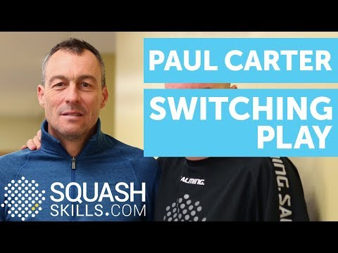 Squash coaching: Switching play with Paul Carter