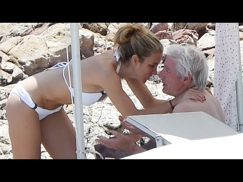 Richard Gere, 65, Cuddles Up to Alejandra Silva, 32, on the Beach