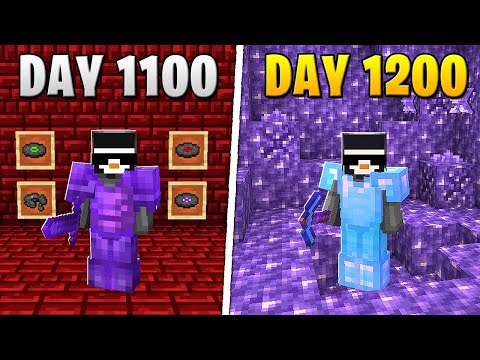 I Survived 1,200 Days in HARDCORE Minecraft...