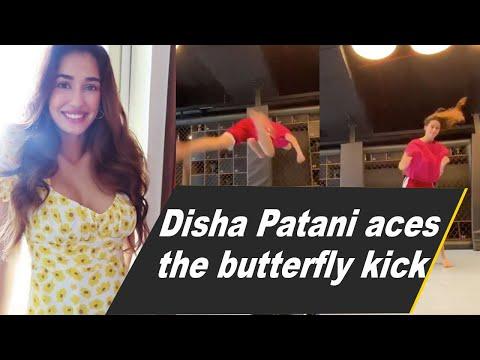 Disha Patani nails the butterfly kick