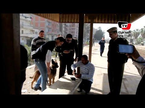 قوات الأمن أثناء إبطال مفعول «عبوة ناسفة وهمية» بالغربية