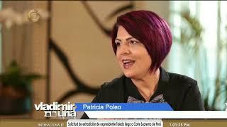 La prófuga de la justicia de Venezuela, Patricia Poleo, con Vladimir Villegas en Globovisión