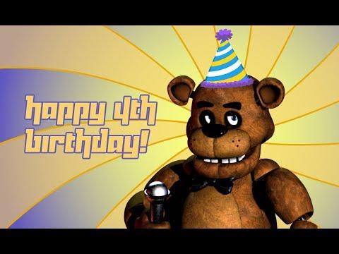 Funny birthday wishes - HAPPY 4TH BIRTHDAY FNAF!!