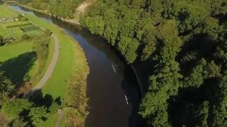 Durham United Kingdom  city photo : Rowing on the River Wear, Durham, UK. Drone Footage.