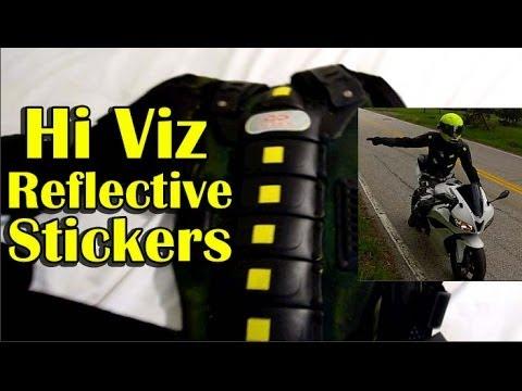 Hi Viz Reflective Stickers - Motorcycle Gear Visibility