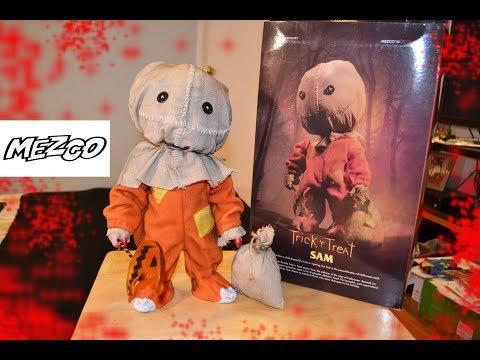 "Mezco TRICK 'R TREAT SAM 15"" FIGURE Unboxing & Review! Halloween"