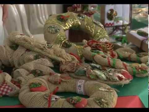 Feira de artesanato natalino em Taubaté