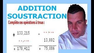 Maths 6ème - Additions et soustractions de nombres décimaux Exercice 8