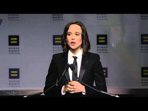 Ellen Page Receives the HRC Vanguard Award
