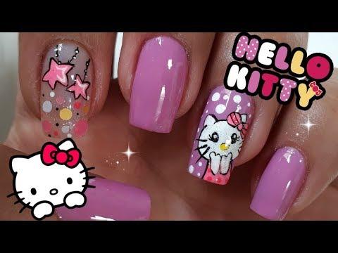 Uñas decoradas - Decoracin de Uñas Hello Kitty/Uñas Hello Kitty