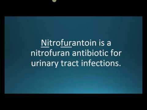How to pronounce nitrofurantoin (Macrobid) (Memorizing Pharmacology Flashcard)