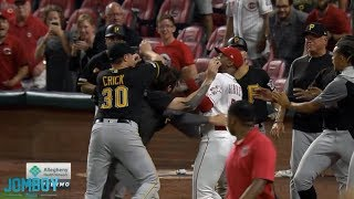 Amir Garrett, Puig & David Bell take on the Pirates in a benches clearing brawl, a breakdown