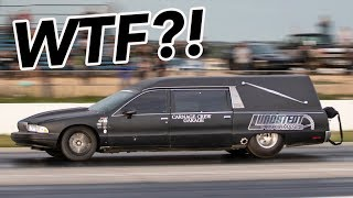 We found a HEARSE at the drag strip..and ITS FAST! by 1320Video