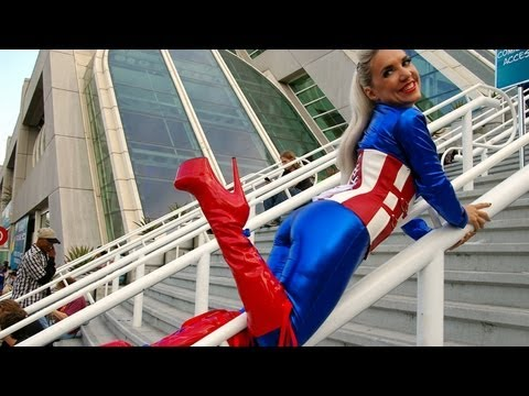 Sexy Lady Captain America Cosplay  | Superhero Cosplay 2016 | Lorekings