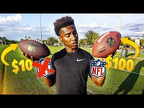 $100 Official NFL Football vs. $10 Walmart Knockoff (INSANE Experiment)