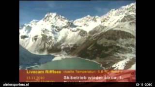 Pitztal - Gletscher Rifflsee webcam time lapse 2010-2011