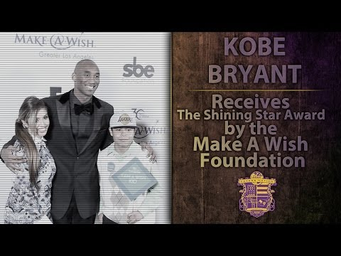 Video: Lakers News: Kobe Bryant Receives Make A Wish Foundation Shining Star Award