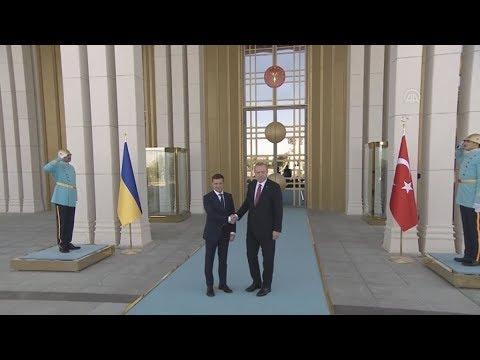 Συνάντηση του προέδρου της Ουκρανίας, Βολοντίμιρ Ζελένσκι,  με τον  Ρετζέπ Ταγίπ Ερντογάν