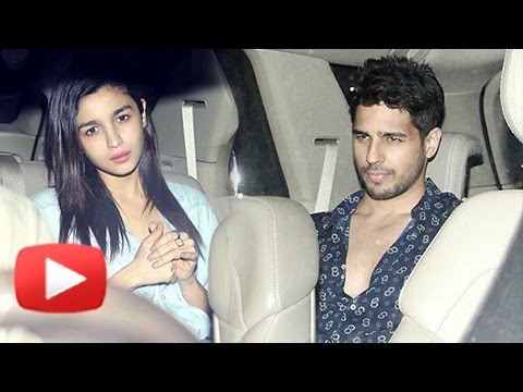 Alia Bhatt And Sidharth Malhotra At Sunny And Anu