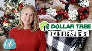 DOLLAR TREE CHRISTMAS DIYS...for lazy people! (just $5 and under 10 minutes)