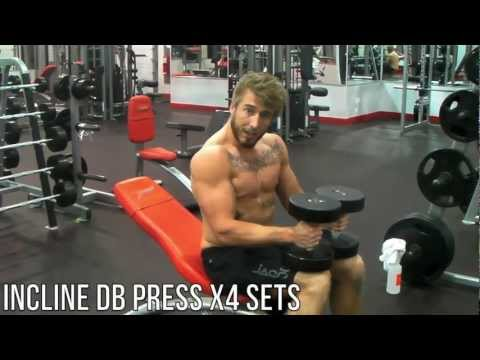front delt - Hey Dude thanks for coming to catch Monday's Chest and Front Delt Workout, where we will rip you through the technique and form to get the best pump possible...