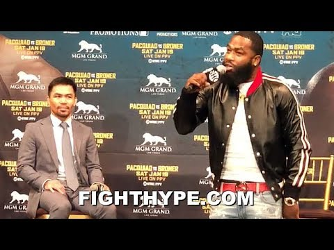 """ADRIEN BRONER DISSES PACQUIAO'S PAST KNOCKOUT LOSS & ALCOHOL PROMOION; INSISTS HE'LL """"BEAT HIS ASS"""""""