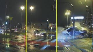 Latający volkswagen z naćpanym kierowcą bez prawa jazdy w Białymstoku