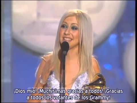 """Christina Aguilera – 1° Premio Grammy """"Best New Artist"""" / """"Artista Revelación"""" (Subtítulos español)"""