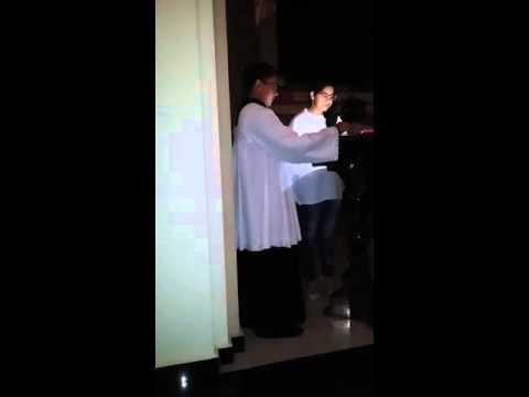 Emilya Helena canta salmo de missa de aleluia em Serra da Raiz!!!!  semana Santa