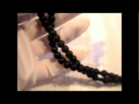 Product Demo - Black Wooden Rosary Bead Necklace
