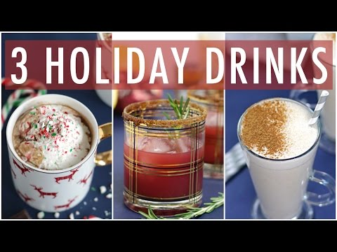 3 DIY Healthy Holiday Drinks