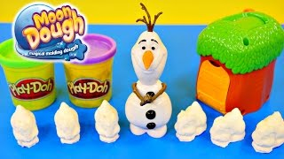 Frozen Olaf Moon Dough Bunnies Magical Molding Play Doh Disney Toys by DCTC