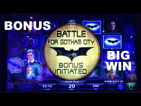 Batman The Dark Knight Live Play with BONUS and BIG WIN Slot Machine