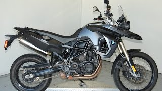 8. 2012 BMW F 800 GS in Matte Grey Metallic: Quick Look & Listen