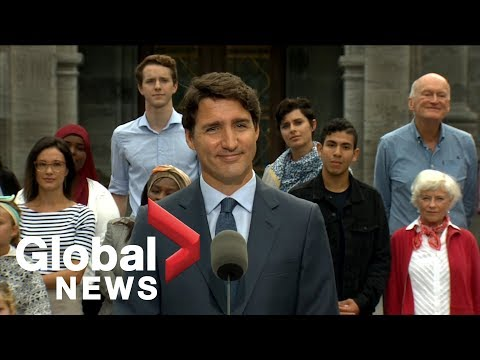 Canada Election Justin Trudeau formally kicks off his campaign  FULL