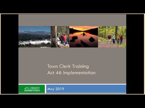 Town Clerk Training - Act 46 Implementation