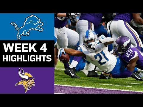 Video: Lions vs. Vikings | NFL Week 4 Game Highlights