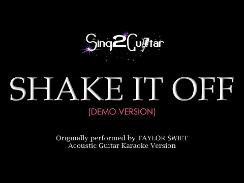 Shake It Off (Acoustic Guitar Karaoke Demo) Taylor Swift