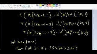 char arrays - 10 Examples 7  pb9 d implement atoi