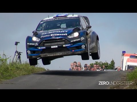 WRC Rally Deutschland 2014   crashes, close calls jumps and drifts