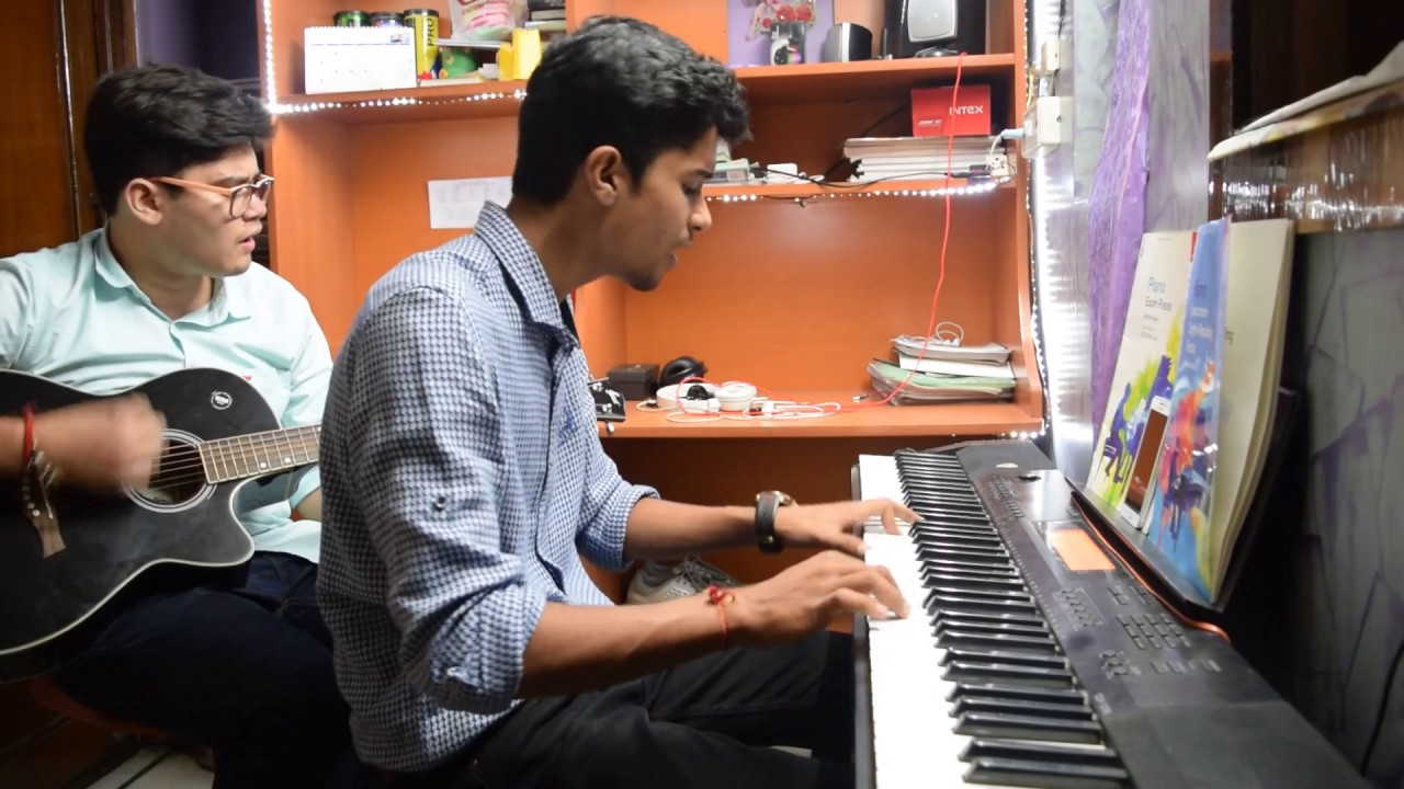 Raabta song on piano and guitar