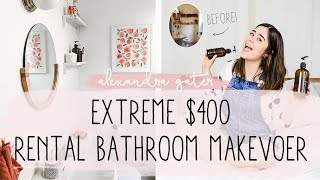 NO STORAGE RENTAL BATHROOM MAKEOVER FOR $400 | MY RENTAL RENO S1 E5